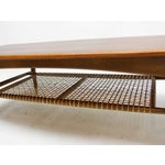 Image of Dux Mid-Century Coffee Table with Cane Shelf