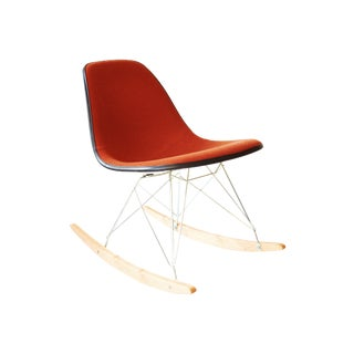 Herman Miller Eames Red Hopsak Rocking Chair