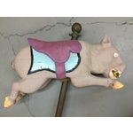 Image of Antique Carousel Ride Wooden Pig