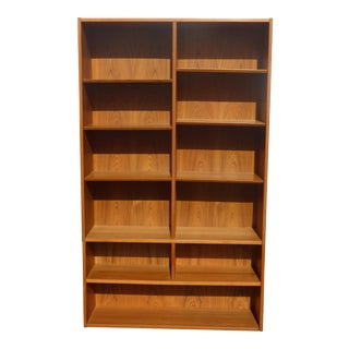Vintage Authentic Poul Hundevad Mid-Century Danish Modern Bookcase Made in Denmark