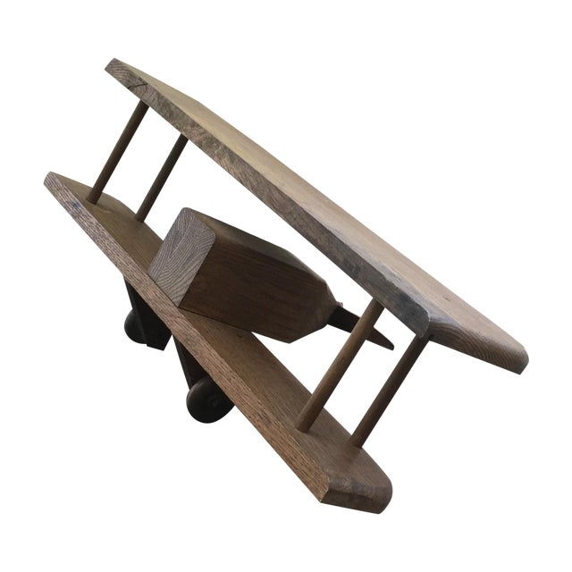 Image of Vintage Wooden Airplane, Mid Century Modern Style