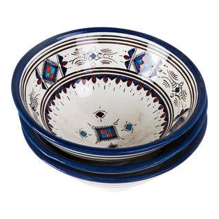 Blue Berber Bowls - Set of 3