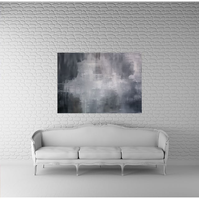 """""""Greys"""" Original Abstract Art by Kris Gould - Image 2 of 5"""