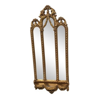 Bassett Ornate Gold Distressed Framed Mirror
