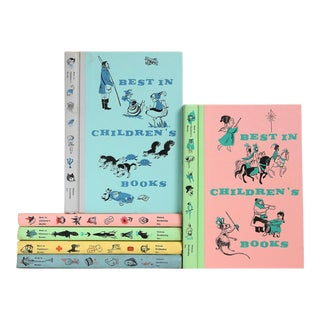 Vintage Pastel Children's Books, S/6