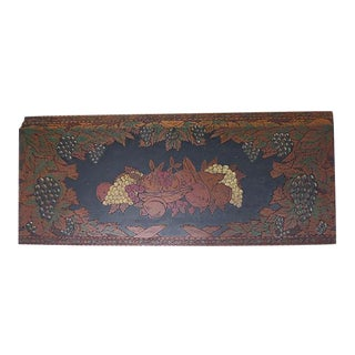 Art Nouveau Hand-Carved and Painted Wall Hanging
