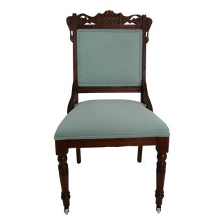 Walnut Eastlake Parlor Chair