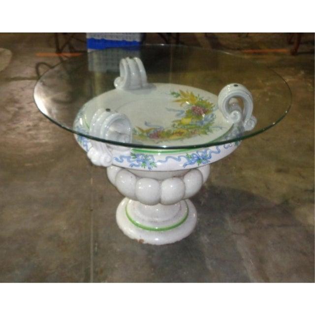 Italian Della Robbia Style Patio Table - Image 4 of 6