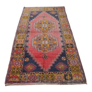 Turkish Oushak Rug- 3′9″ × 7′1″