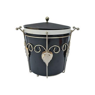 Black and Brass Ice Bucket