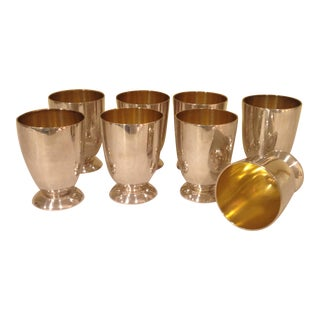 Christofle Sheffield England Silver Plate Footed Goblets - Set of 8