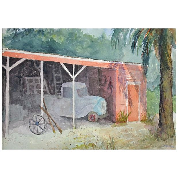 Image of Old Truck Watercolor