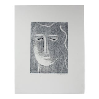"""Moon III"" Original Monotype Print"