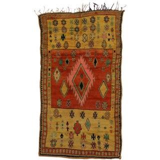 "Vintage Berber Moroccan Tribal Rug - 5'1"" x 9'1"""