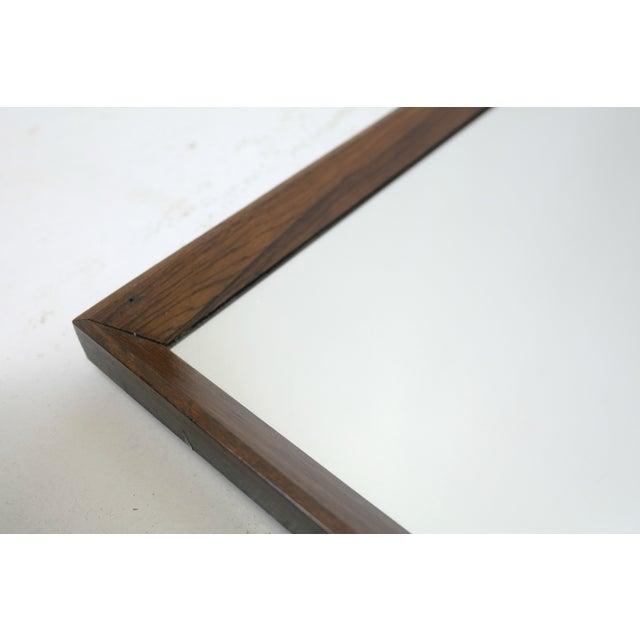 Image of Danish MCM Teak Mirror Set With Floating Shelf