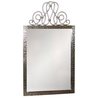 French Art Deco Steel Mirror