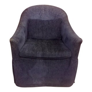 Blue Chenille Occasional Armchair