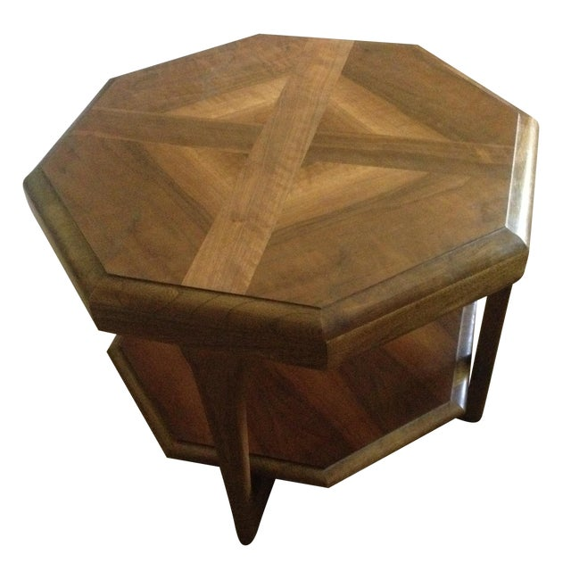 Mid century lane octagon side end table chairish