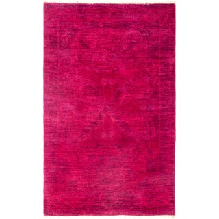 New Fuscia Overdyed Hand-Knotted Rug