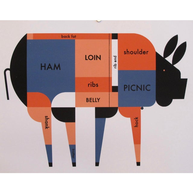 Contemporary Kitchen Poster, Piggie Meat Chart - Image 4 of 4