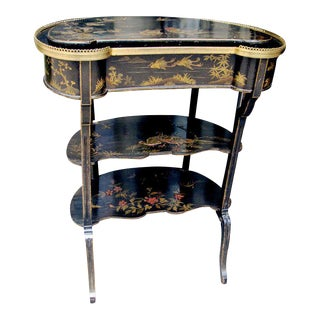 19th Century English Side Table With Painted Chinoiserie Decoration