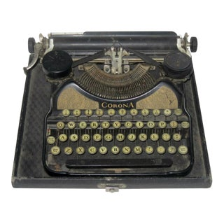 Corona Art Deco Typewriter
