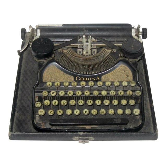 Corona Art Deco Typewriter - Image 1 of 7
