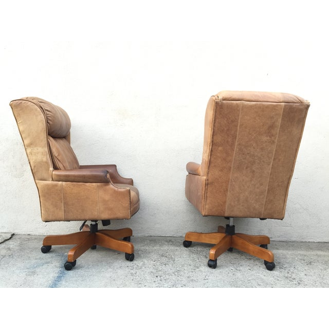 Mid-Century Italian Leather Chairs - Pair - Image 8 of 11