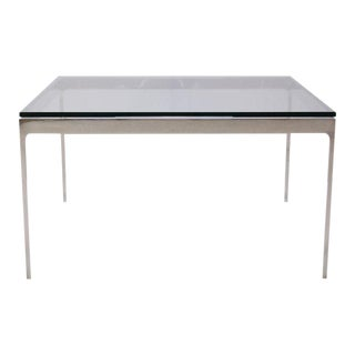 Minimalist Stainless Steel Cocktail Table by Nicos Zographos