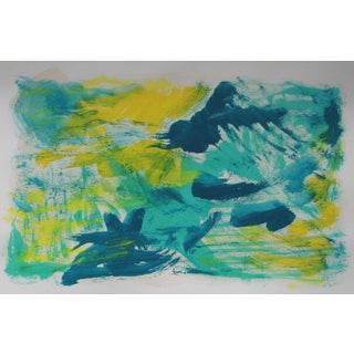 Blue Avenue Abstract Painting by Cleo