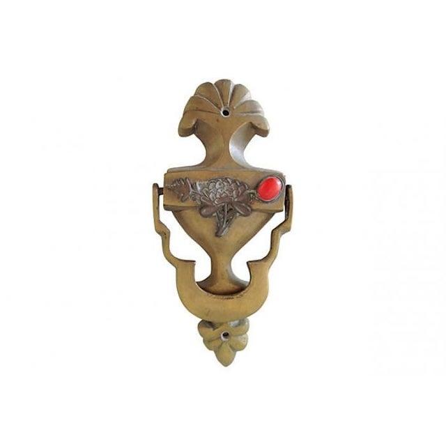 Image of Brass Peony Door Knocker