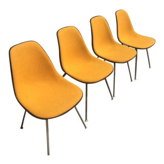 Fiberglass Upholstered Eames Chairs - Set of 4