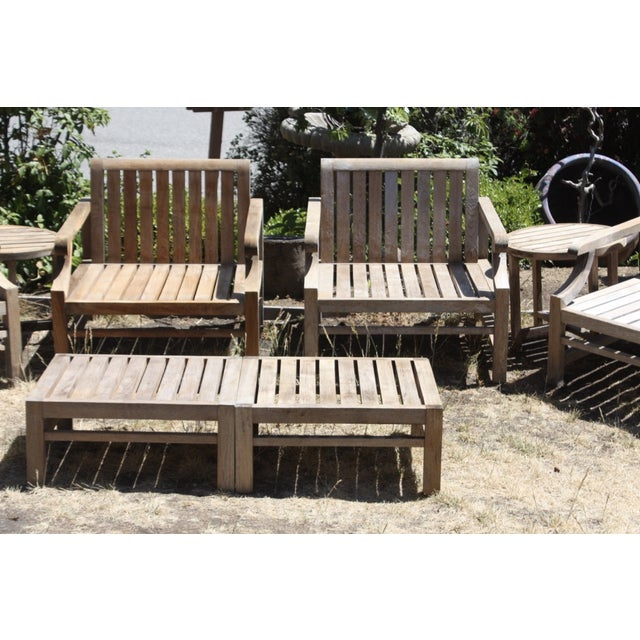Teak Wood Pieces ~ Teak wood patio set piece chairish