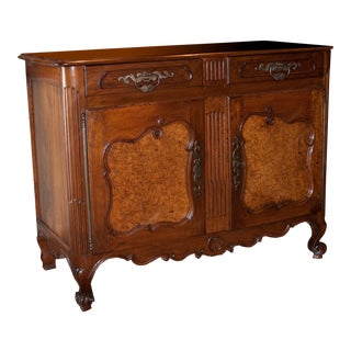 18th C. Louis XV Period Walnut & Elm Buffet