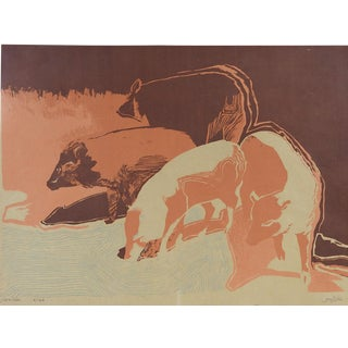 Javelina Abstract Pig Serigraph