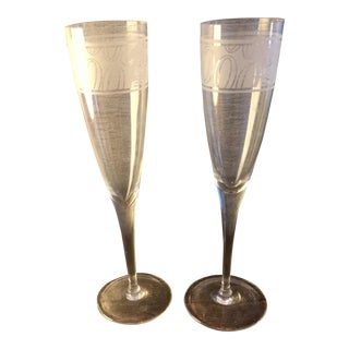 Tiffany Commemorative Champagne Flutes - A Pair