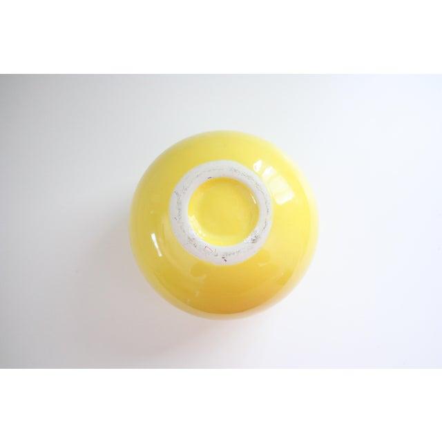 Mid-Century Yellow Ceramic Vase - Image 5 of 5