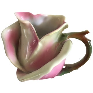 Vintage Bavarian Ceramic Rose Vessel