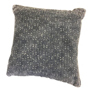 Deep Washed Indigo Patterned Pillow