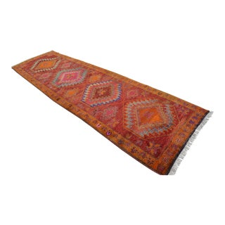 Kurdish Hand Knotted Runner Rug - 3′7 × 12′2″
