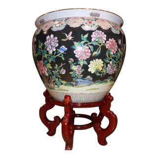 Floral Chinese Vase Fishbowl