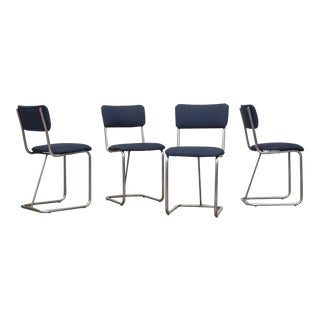 Gispen Chrome Dining Chairs  - Set of 4