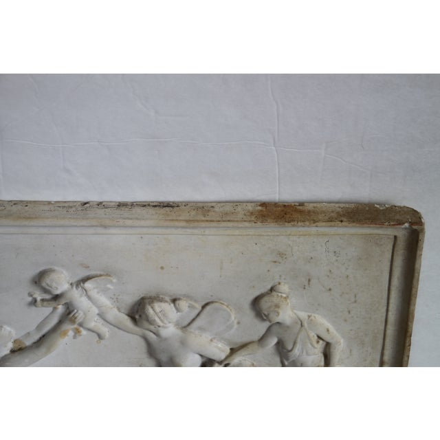 Neoclassical Plaster Relief Cherub Wall Art - Image 11 of 11