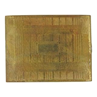 Evans Gold Tone Deco Cigarette Case