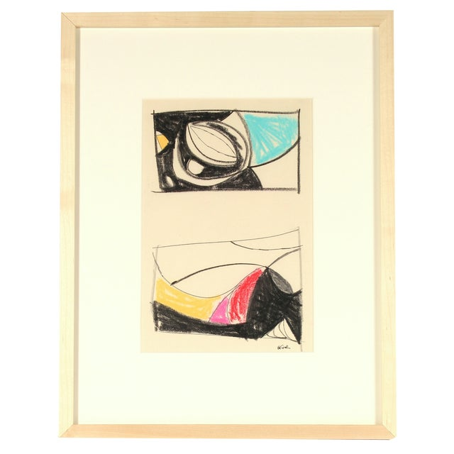 Image of Michael di Cosola Vintage Abstract Pastel Drawing