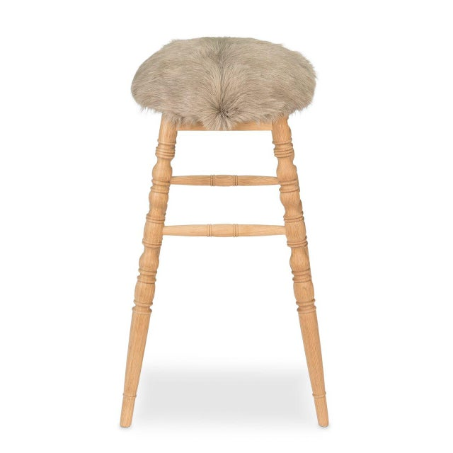 Sarreid LTD Beige 'Winoma' Bar Stool - Image 5 of 6