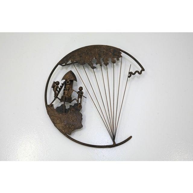 Mid-Century Brutalist Moon Landing Sculpture - Image 2 of 5