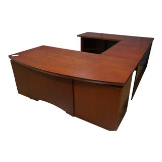 Compel Avenue Cherry U-Shape Desk