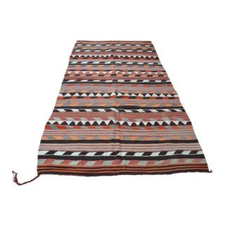 "Traditional Turkish Kilim Rug - 4'6"" x 9'5"""