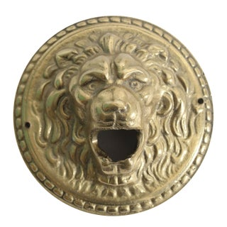 Vintage Brass Lion Medallion Bottle Opener